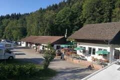 Camping Alpirsbach / Blick auf das Restaurant