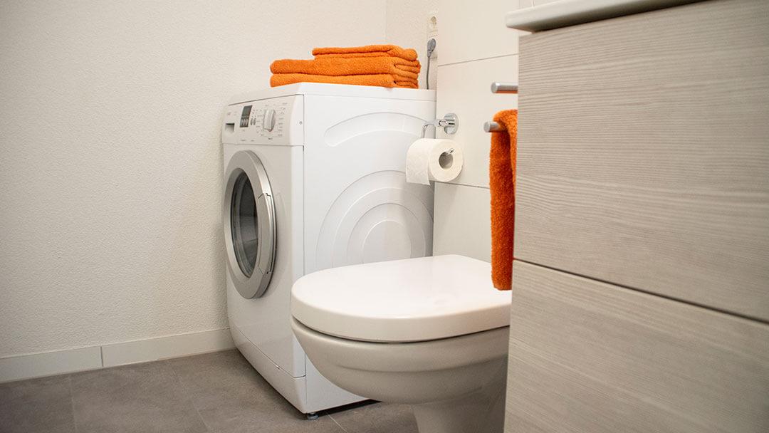 Bad / WC und Waschmaschine