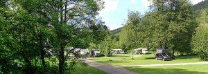 Blick auf den Campingplatz Alpirsbach